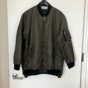 XL ZARA Basic Bomber Outerwear Jacket